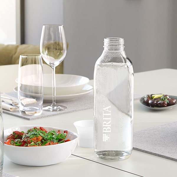 """BRITA Glasflasche mit Logo 0,75l """"White"""""""