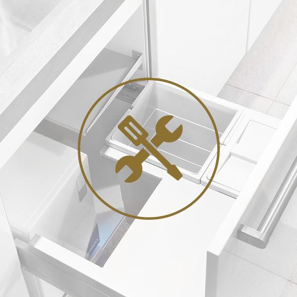 Einbau | Abfalltrennsystem für Frontauszug yource pro select