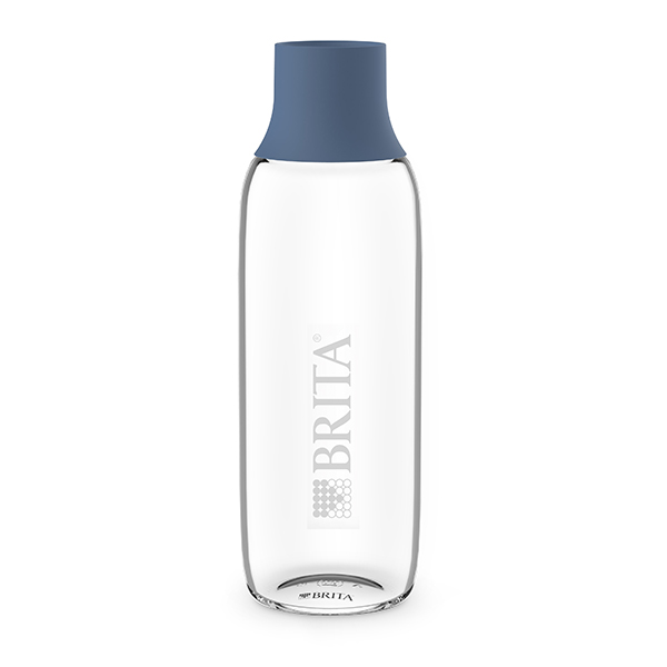 brita wasserbars brita glasflasche mit logo 0 75l blue brita yource. Black Bedroom Furniture Sets. Home Design Ideas