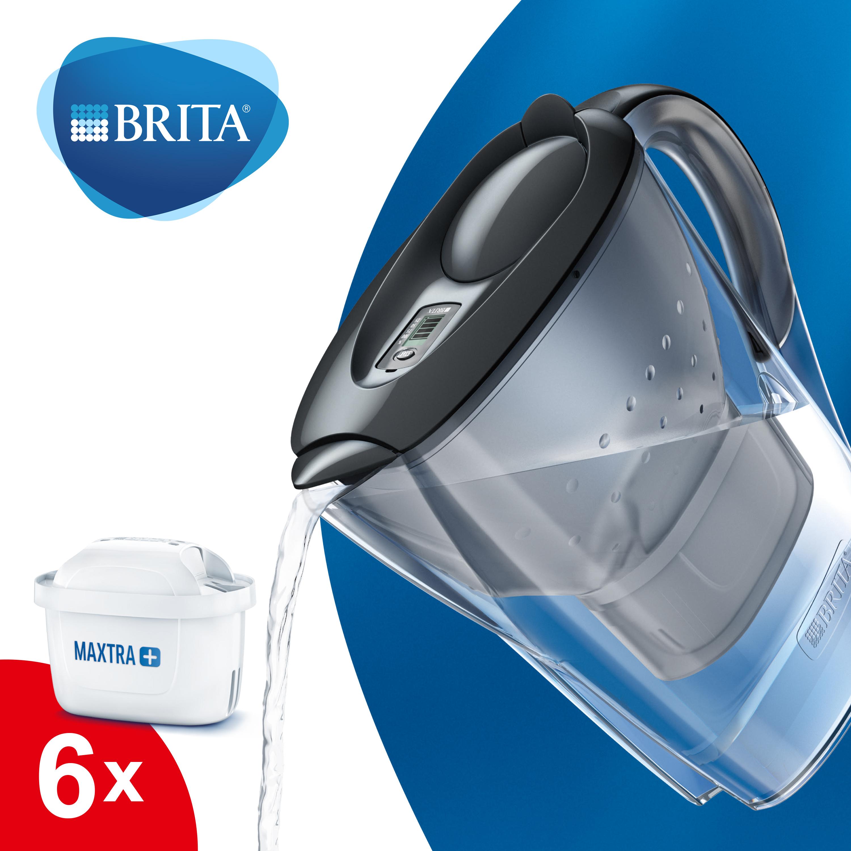 Personalverkauf - BRITA Marella Vorteilspack mit 6 Kartuschen MAXTRA+ (graphite)
