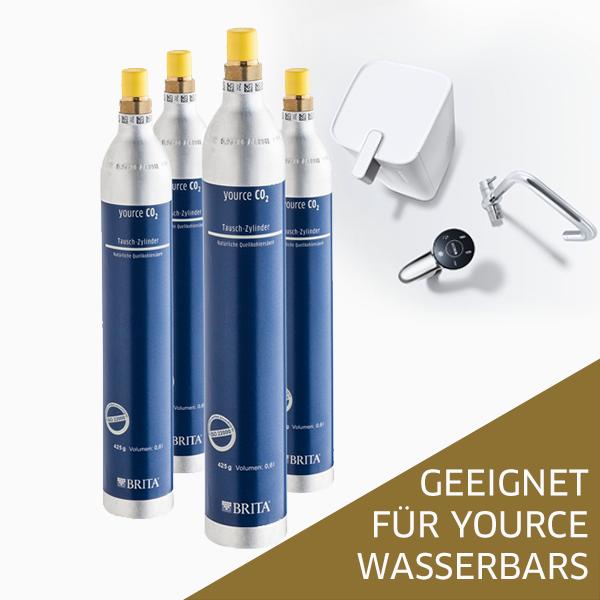 Personalverkauf - 4er-Pack CO 2 für Yource Wasserbars