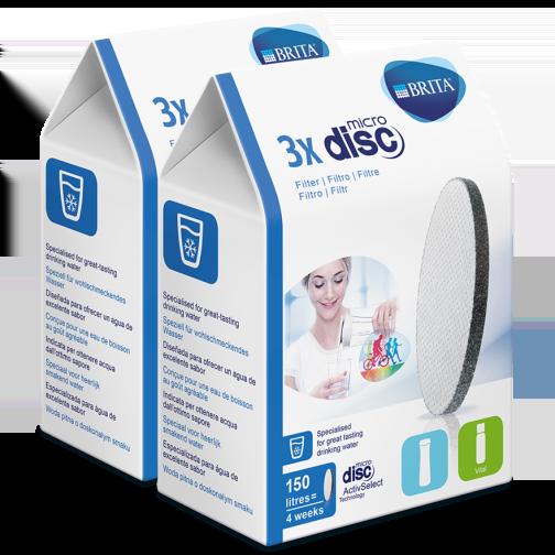 Personalverkauf - BRITA MicroDisc Vorteilspack mit 6 Wasserfiltern